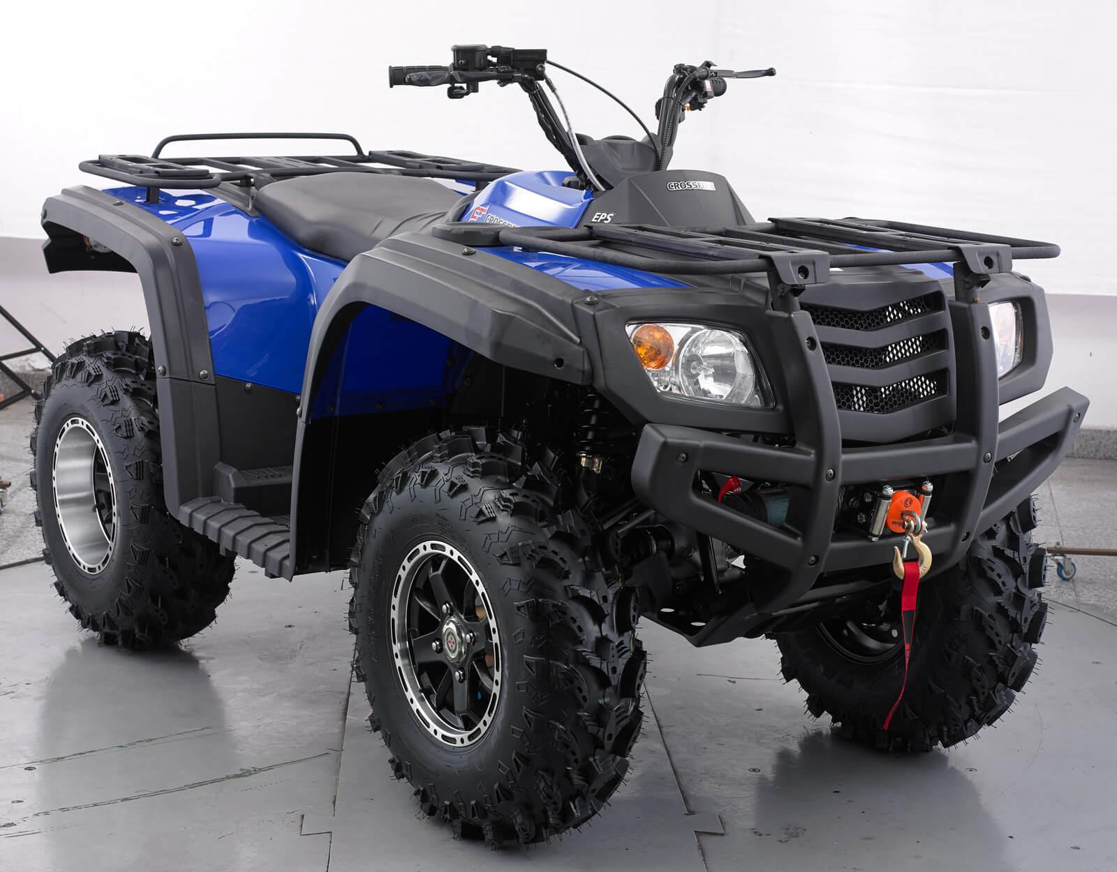 Blue quad ATV