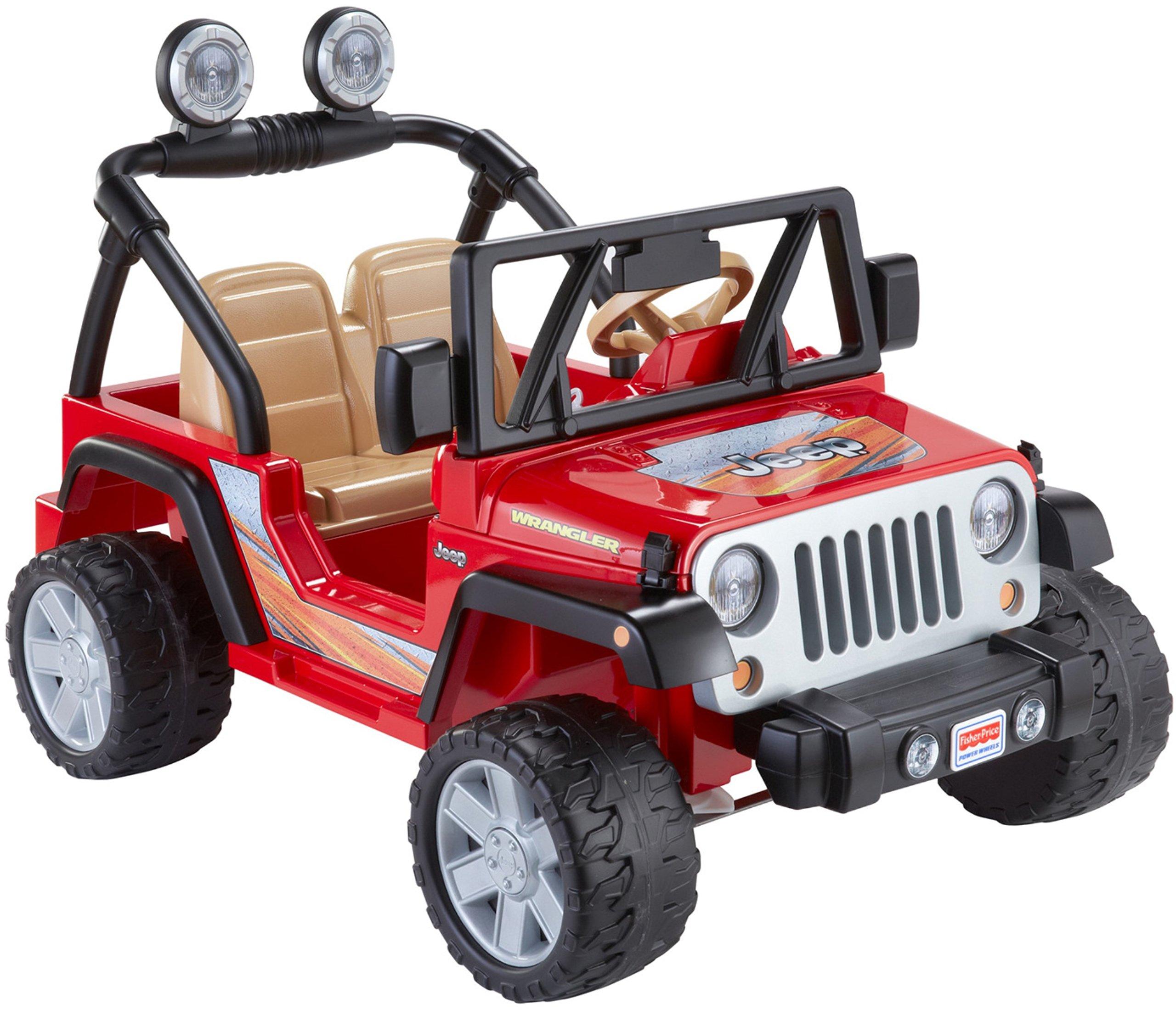 kids red power wheels wrangler